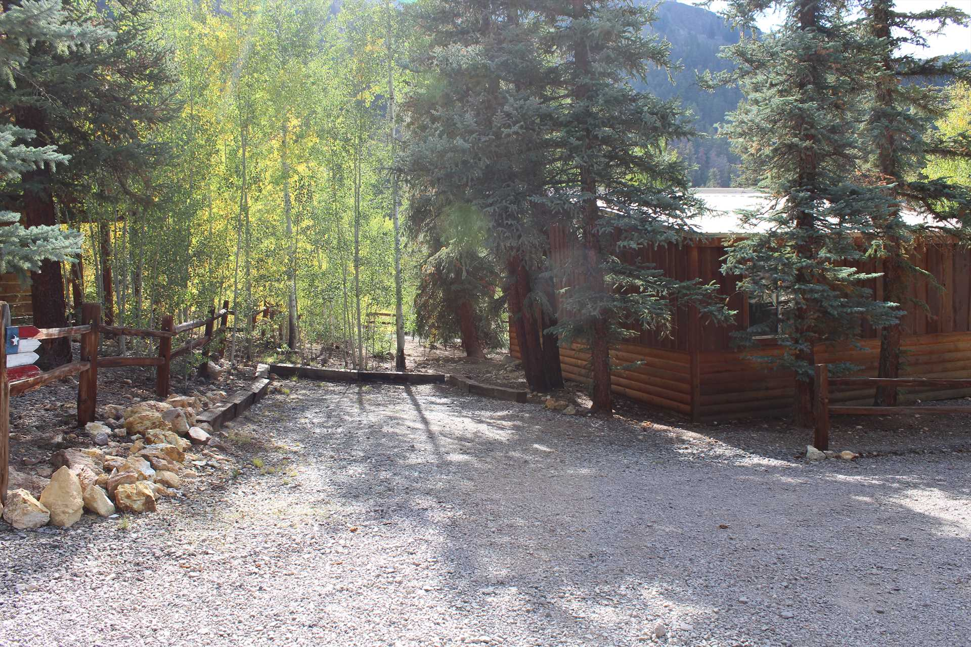 Parking Behind the Cabin