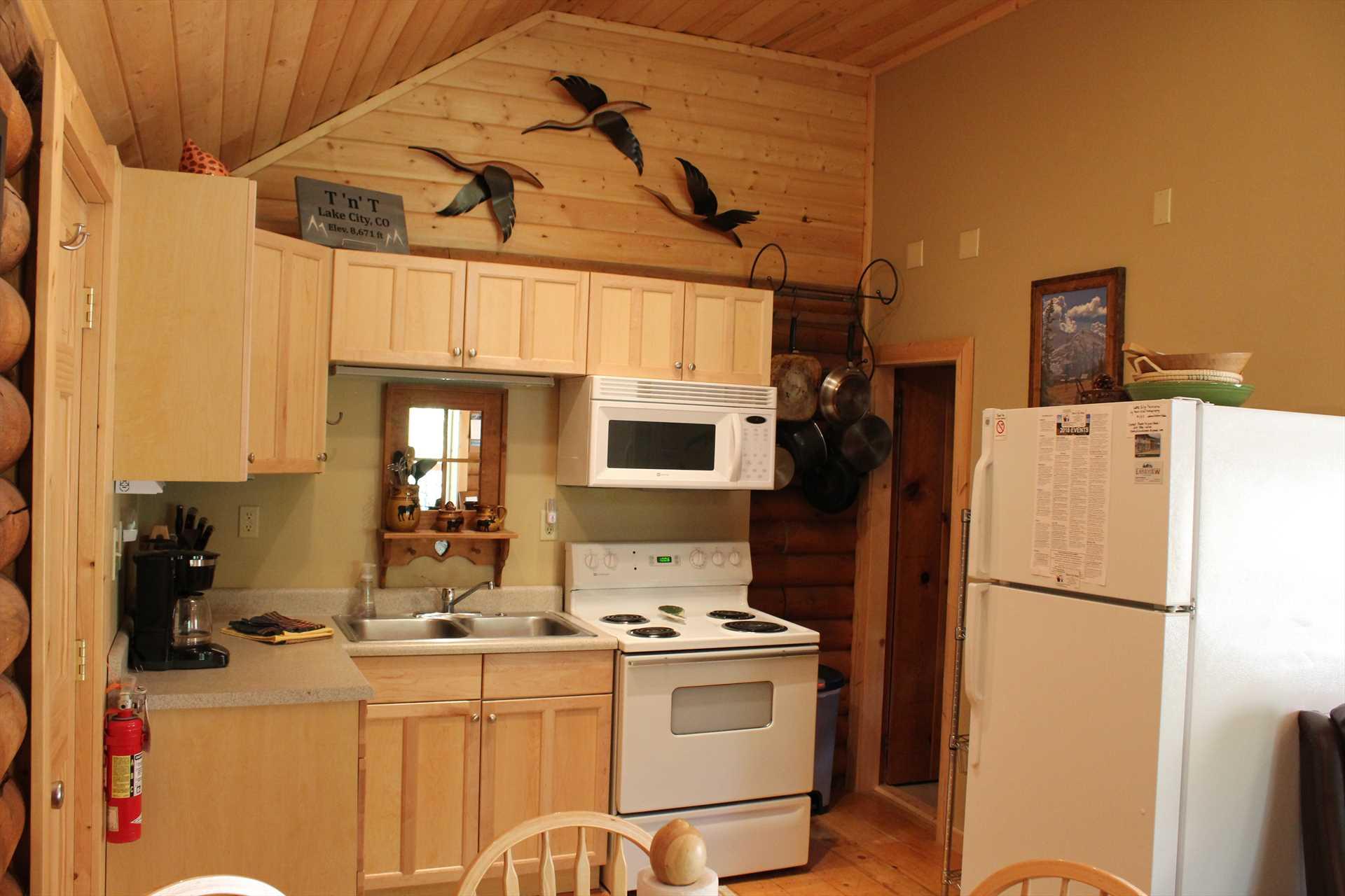 Kitchen Looking toward Bathroom in the Corner