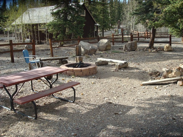 Fire Pit Area in the Front of the Cabin