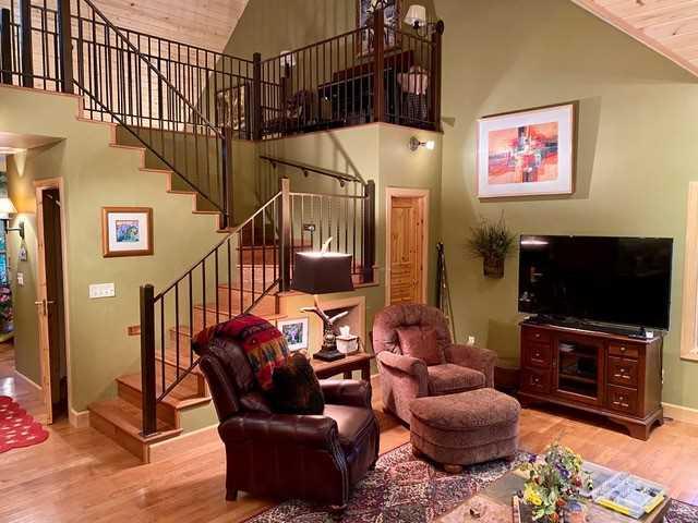 Living Room Toward Loft Stairs