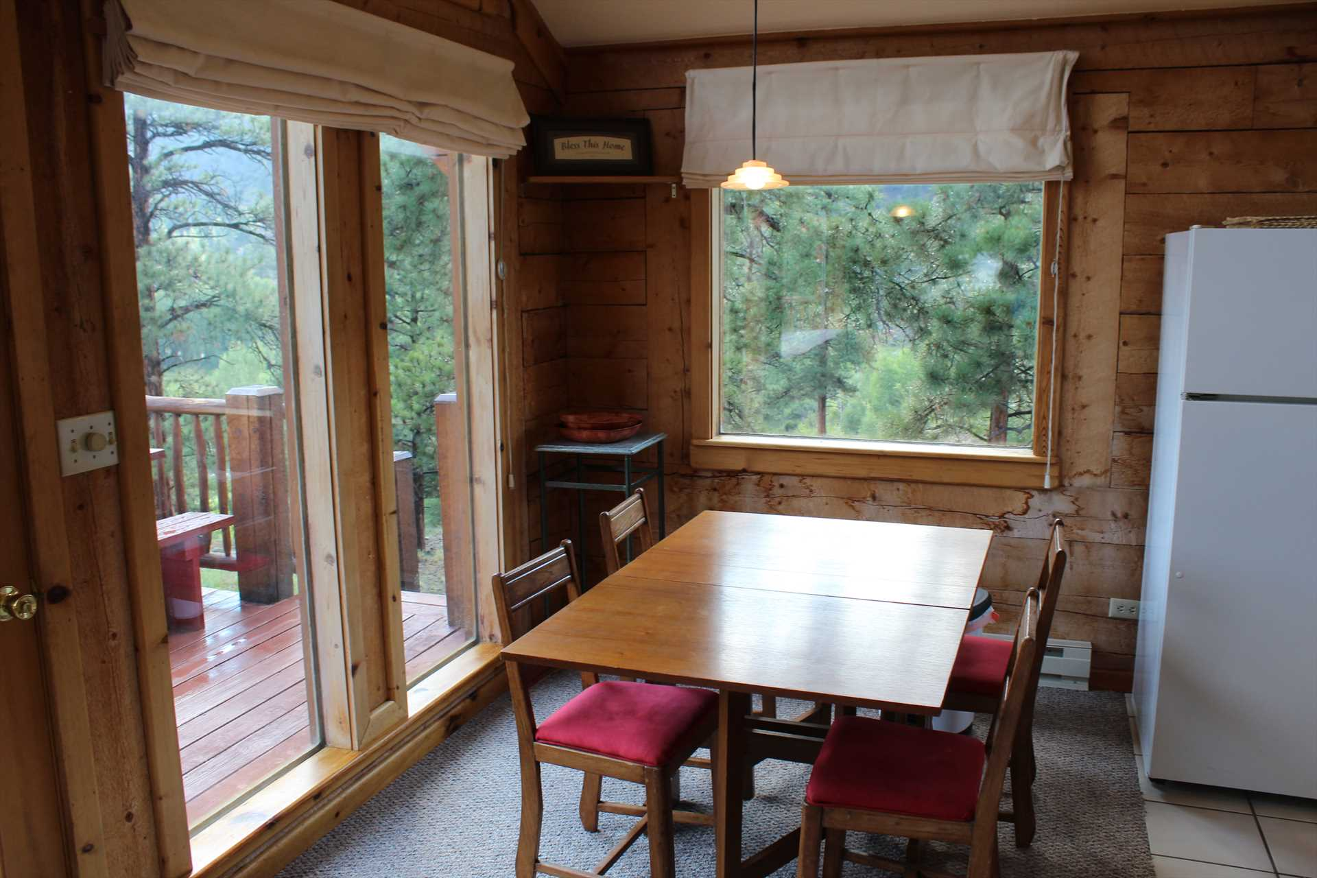 Dining Area with Great Views Out the Large Windows