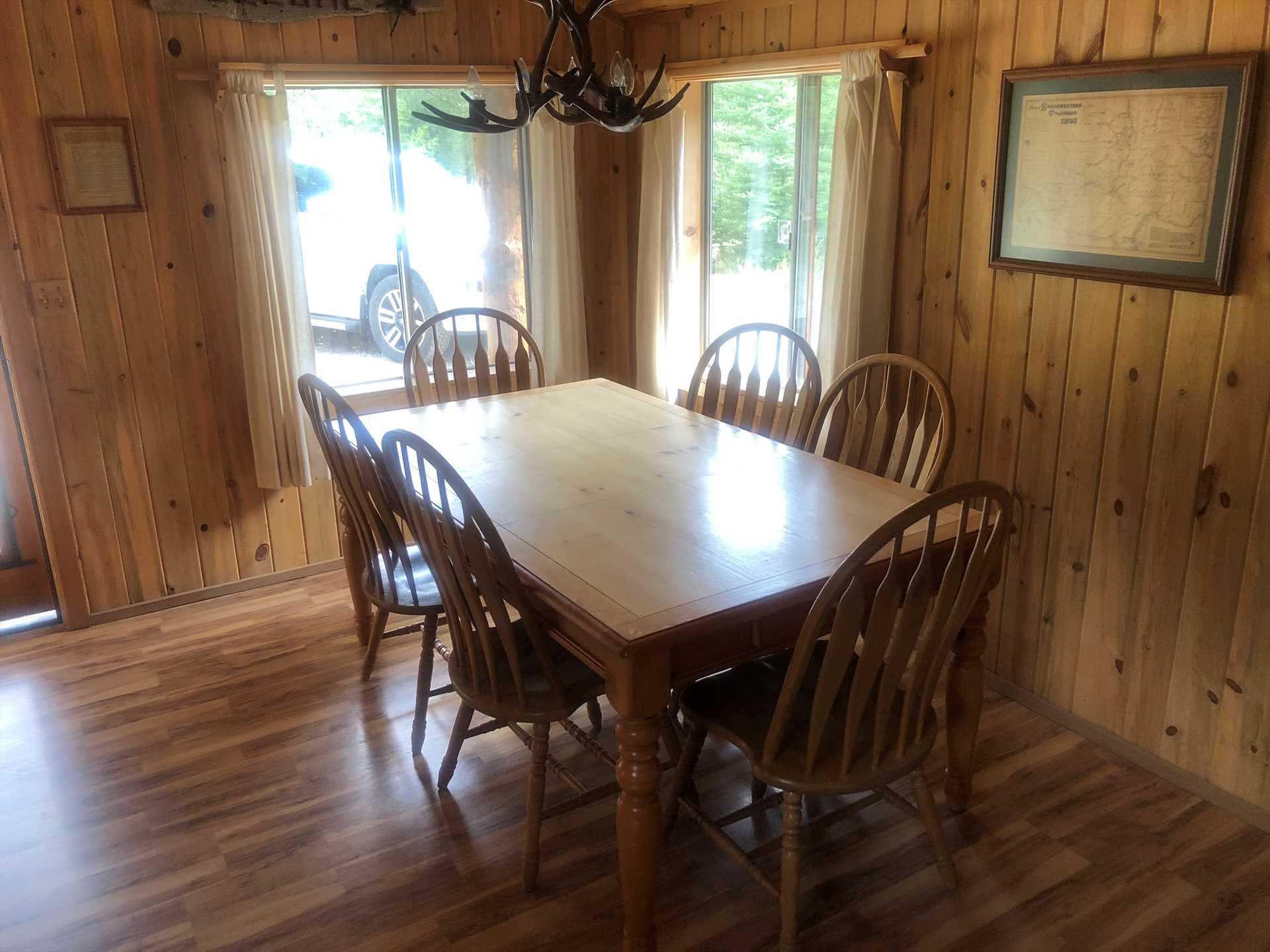 Dining Table Just Outside of Kitchen