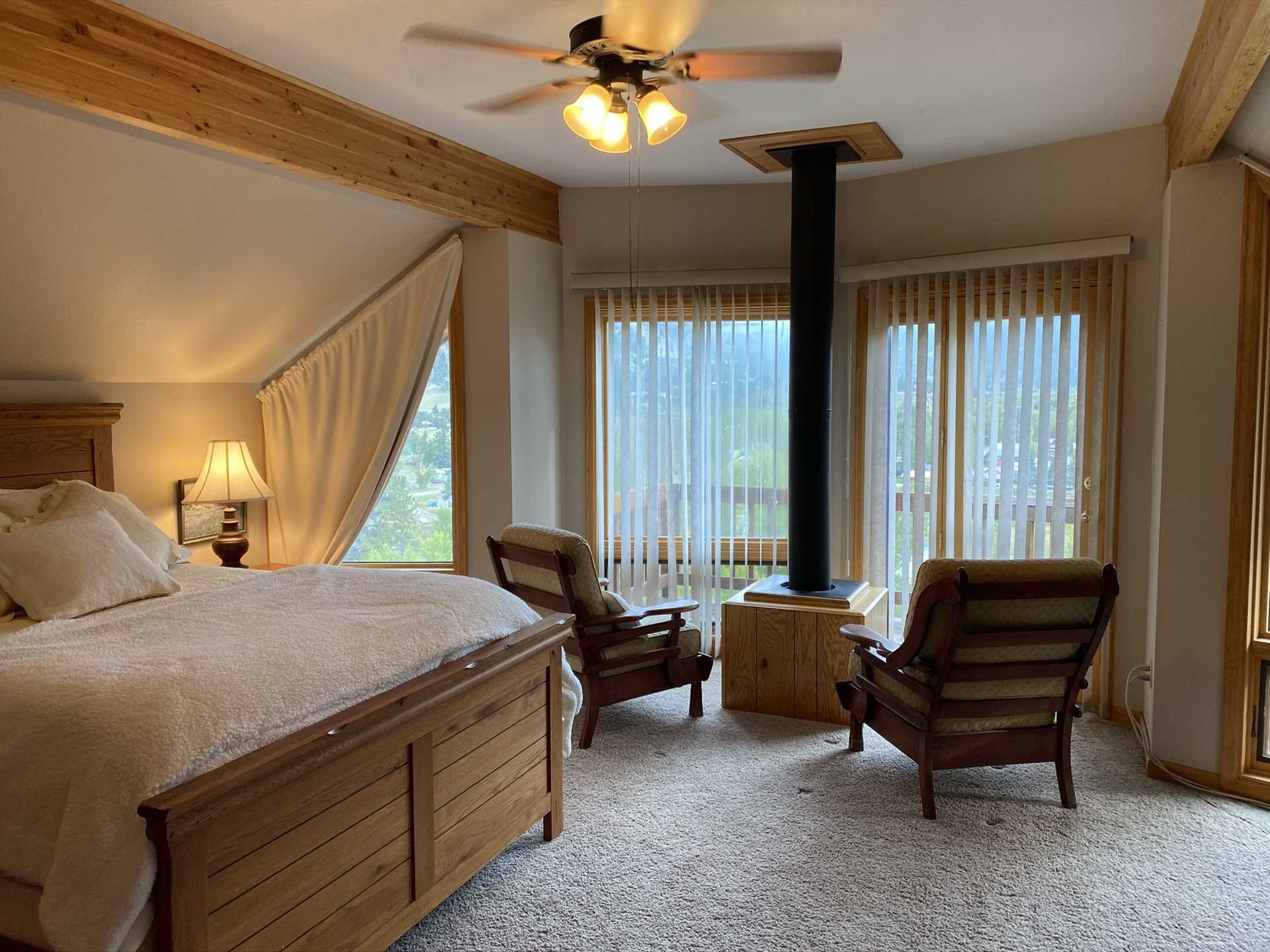 Sitting Area in Master Bedroom with Views of the Valley